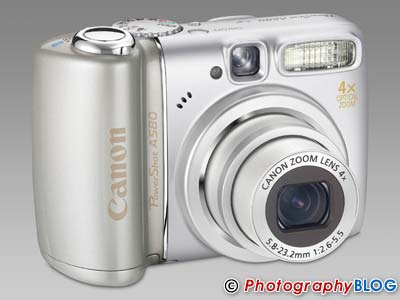 Canon PowerShot A590 IS, A580, A470   Photography Blog