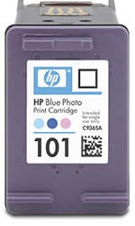 HP 101 Blue Photo Inkjet Print Cartridge