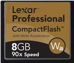 Lexar 8GB CompactFlash Memory Card