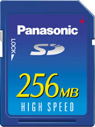 Panasonic High Speed 256MB SD Memory Card