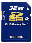 Toshiba 32GB SDHC Card