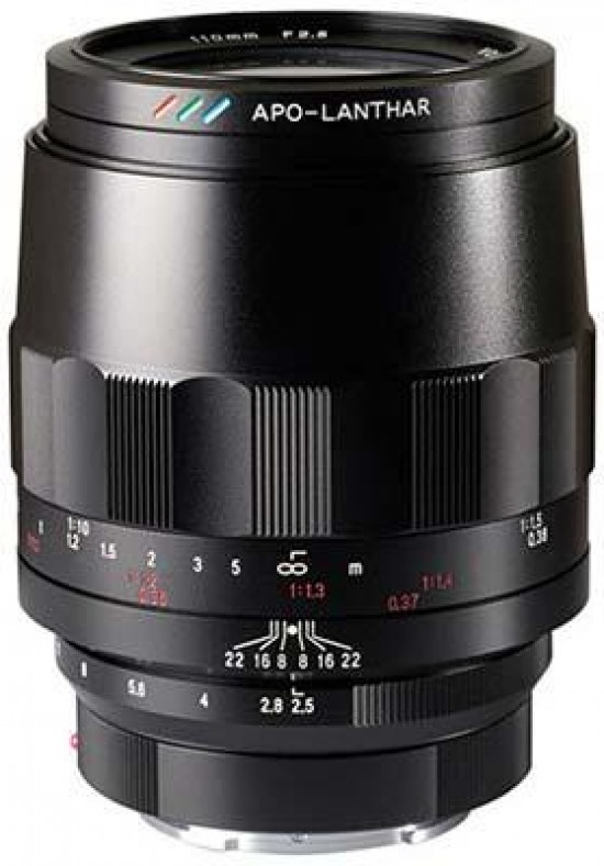 d0fef73e378 Cosina Japan have launched three new Voigtlander lenses at the CP+ show in  Japan - the Voigtlander MACRO APO-LANTHAR 110mm F2.5 E-mount (pictured)