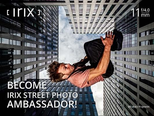 Become ​an Irix Street Photo Ambassador​