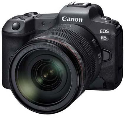 Canon EOS R5 Flagship Mirrorless Camera, 8K Video, 20fps Burst Shooting, In-Body Image Stabilisation, Dual Card Slots