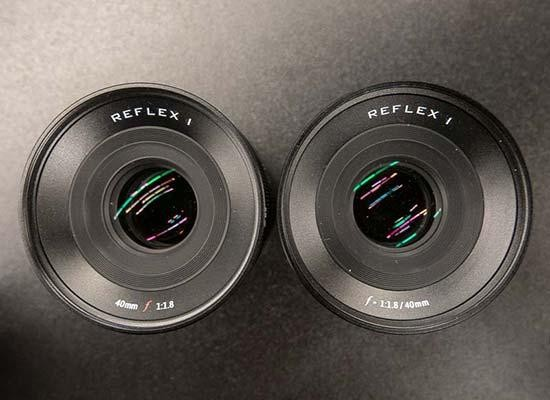 Reflex 40mm f/1.8 Lens Hands-on Photos