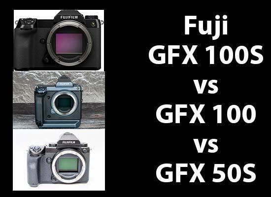Fujifilm GFX 100S vs GFX 100 vs GFX 50S - Head-to-Head Comparison