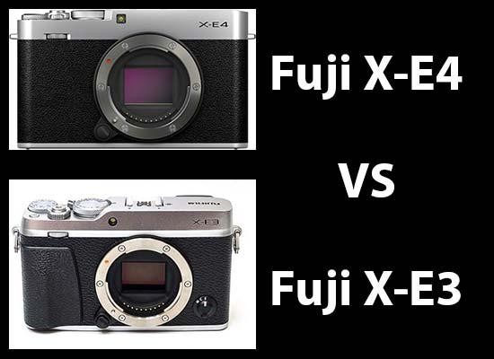 Fujifilm X-E4 vs X-E3 - Head-to-head Comparison
