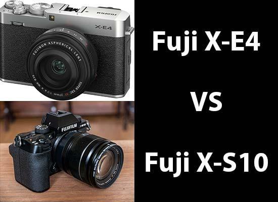 Fujifilm X-E4 vs X-S10 - Head-to-head Comparison