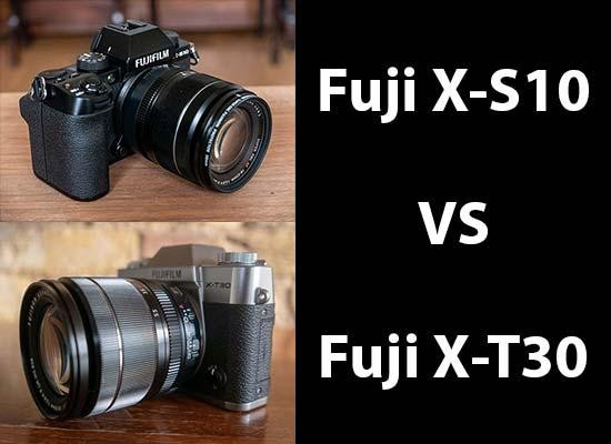 Fujifilm X-S10 vs X-T30 - Head-to-head Comparison
