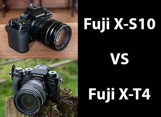 Fujifilm X-S10 vs X-T4 - Head-to-head Comparison