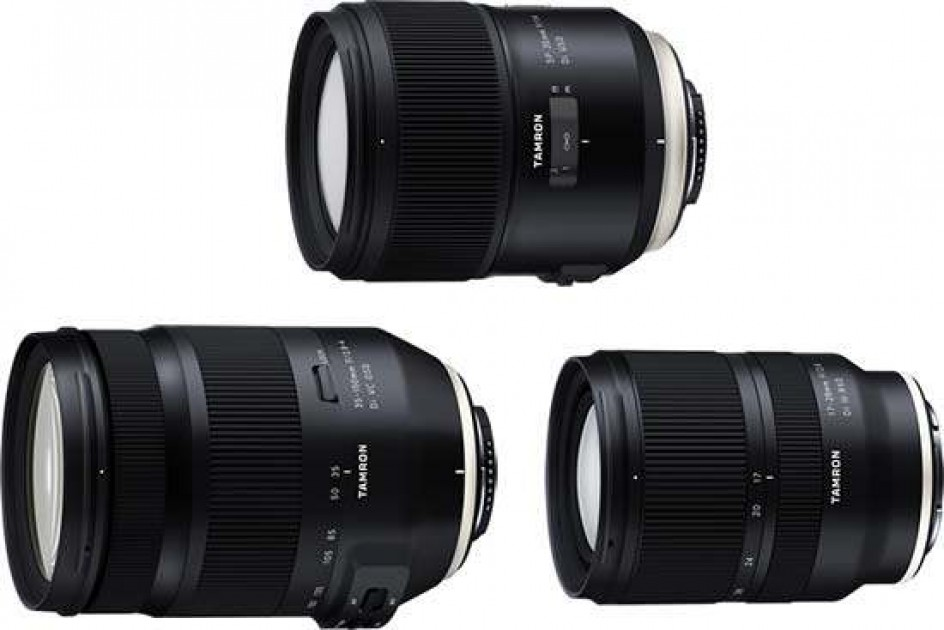 Tamron 17-28mm F/2.8, 35-150mm F/2.8-4 and 35mm F/1.4 Lenses